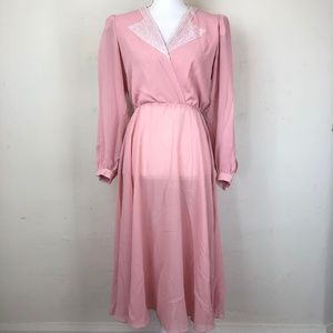 Ursula of Switzerland Vintage 80's Chiffon Dress